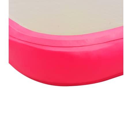 vidaXL Saltea gimnastică gonflabilă cu pompă roz 800x100x10cm PVC[10/14]