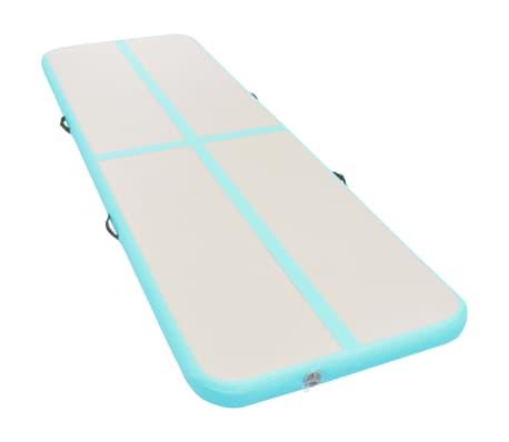 vidaXL Pripuč. gimnast. kilim. su pompa, žal. sp., 800x100x10cm, PVC[2/14]
