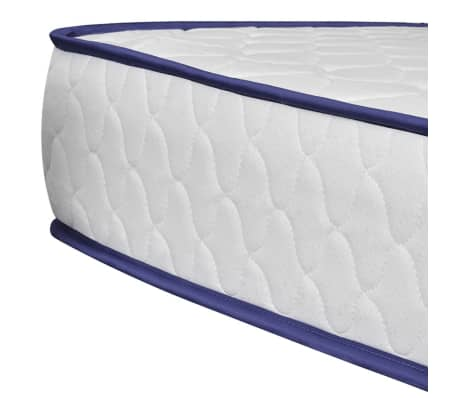 vidaXL Bed with Memory Foam Mattress Black Metal 153x203 cm Queen[8/12]