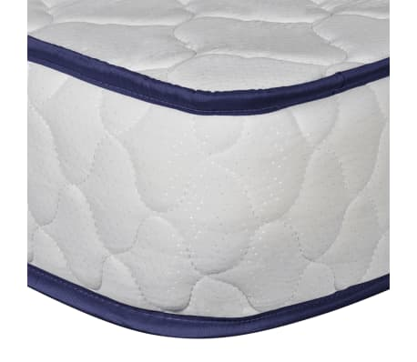 vidaXL Bed with Memory Foam Mattress Black Metal 153x203 cm Queen[9/12]