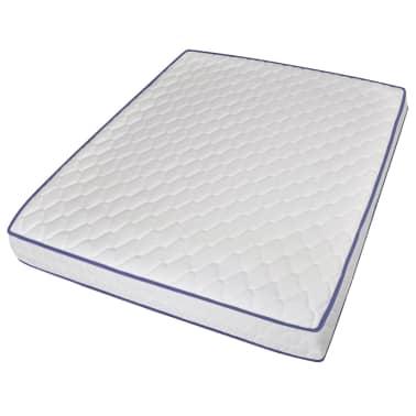vidaXL Bed with Memory Foam Mattress Black Metal 153x203 cm Queen[6/12]
