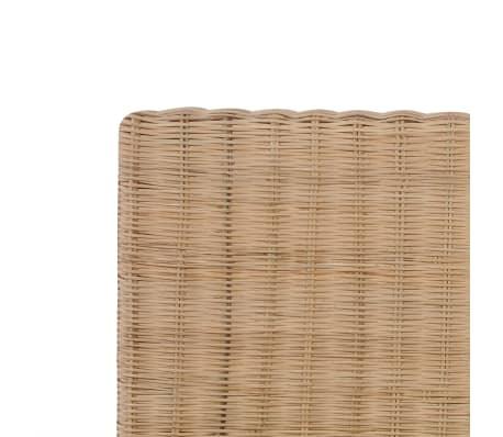 vidaXL Ručne pletený posteľný rám, pravý ratan 140x200 cm[6/7]