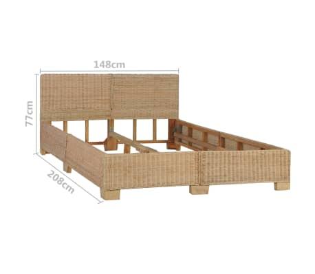 vidaXL Ručne pletený posteľný rám, pravý ratan 140x200 cm[7/7]