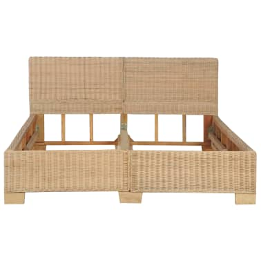 vidaXL Ručne pletený posteľný rám, pravý ratan 140x200 cm[3/7]