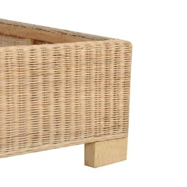 vidaXL Ručne pletený posteľný rám, pravý ratan 140x200 cm[5/7]