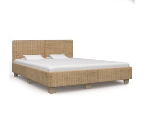 vidaXL Ručne pletený posteľný rám, pravý ratan 180x200 cm