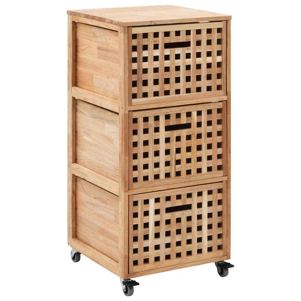 Koupelnová skříňka 41 x 41 x 91 cm masivní ořechové dřevo