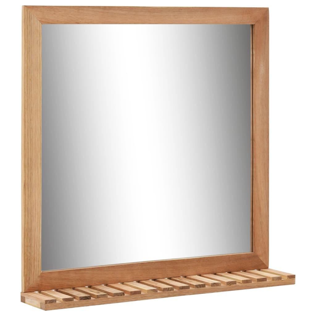 vidaXL Καθρέφτης Μπάνιου 60 x 12 x 62 εκ. από Μασίφ Ξύλο Καρυδιάς