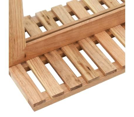 vidaXL Praustuvo spintelė su veidrodžiu, riešutmedžio medienos masyv.[12/13]