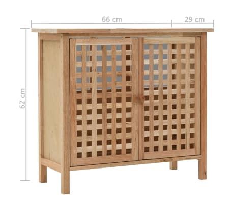 vidaXL Praustuvo spintelė su veidrodžiu, riešutmedžio medienos masyv.[13/13]