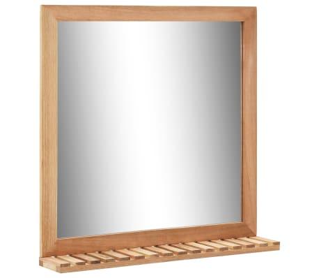 vidaXL Praustuvo spintelė su veidrodžiu, riešutmedžio medienos masyv.[7/13]