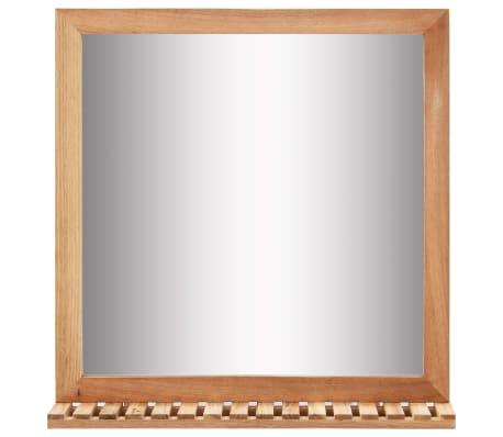 vidaXL Praustuvo spintelė su veidrodžiu, riešutmedžio medienos masyv.[8/13]