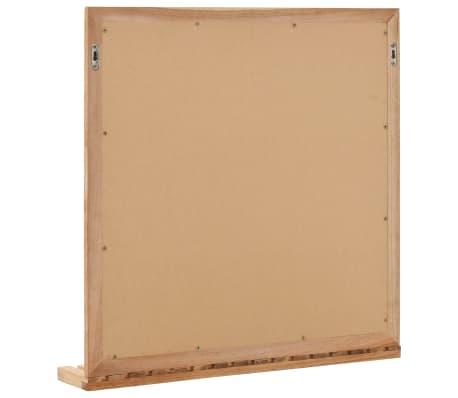 vidaXL Praustuvo spintelė su veidrodžiu, riešutmedžio medienos masyv.[10/13]