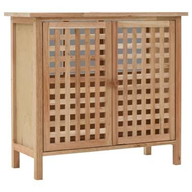 vidaXL Praustuvo spintelė su veidrodžiu, riešutmedžio medienos masyv.[2/13]