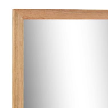 vidaXL Praustuvo spintelė su veidrodžiu, riešutmedžio medienos masyv.[11/13]