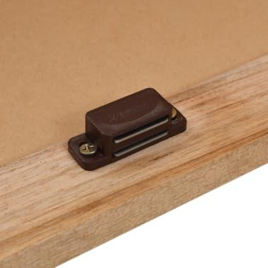 vidaXL Praustuvo spintelė su veidrodžiu, riešutmedžio medienos masyv.[6/13]