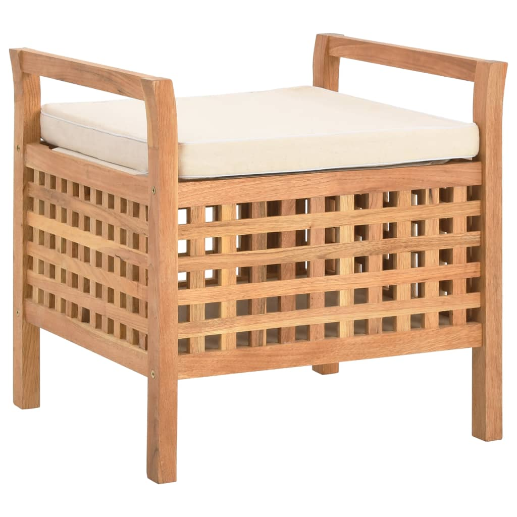 Úložná lavice 49 x 48 x 49 cm masivní ořechové dřevo