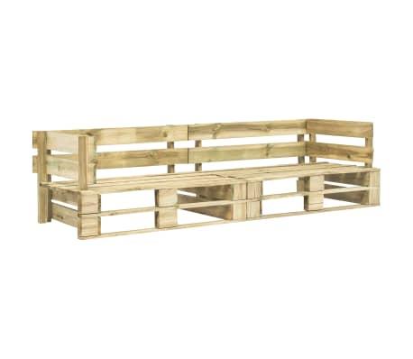 vidaXL Garden 2-Seater Sofa Pallets Wood