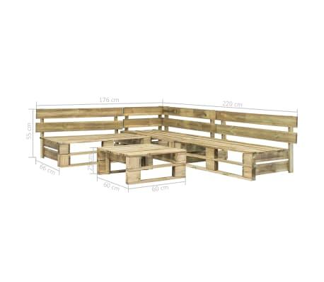 vidaXL Mobilier de jardin palette 4 pcs Bois FSC Vert