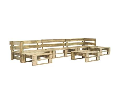 vidaXL 6-dielna záhradná sedacia súprava, palety, drevo