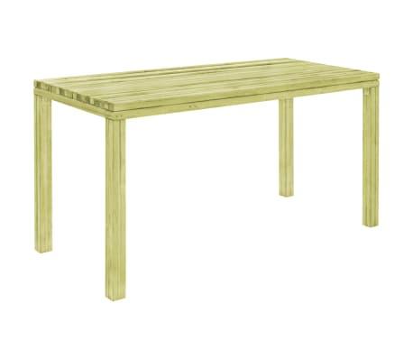 vidaXL Table à dîner de jardin 150x75,5x77 cm Pinède imprégnée