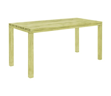 vidaXL Table à dîner de jardin 170x75,5x77 cm Pinède imprégnée
