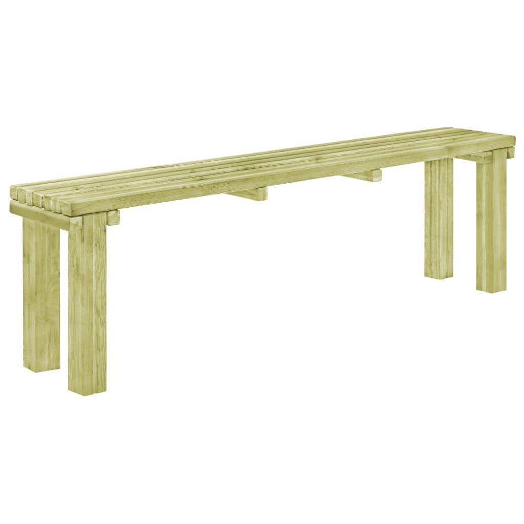 vidaXL Bancă de grădină, 150x27,5x45 cm, lemn de pin tratat poza 2021 vidaXL