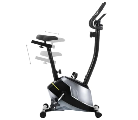vidaXL Bicicleta estática magnética con pulsómetro[4/8]