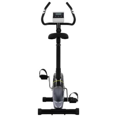 vidaXL Bicicleta estática magnética con pulsómetro[2/8]