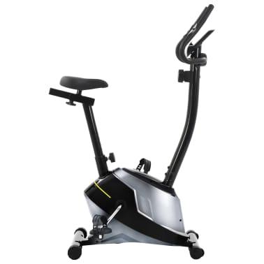 vidaXL Bicicleta estática magnética con pulsómetro[3/8]