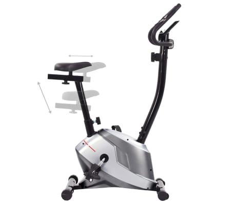 vidaXL Bicicletă de fitness magnetică cu măsurare puls[4/8]