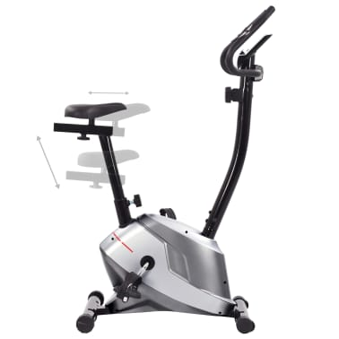 vidaXL Magnetyczny rower treningowy z pomiarem tętna[4/8]
