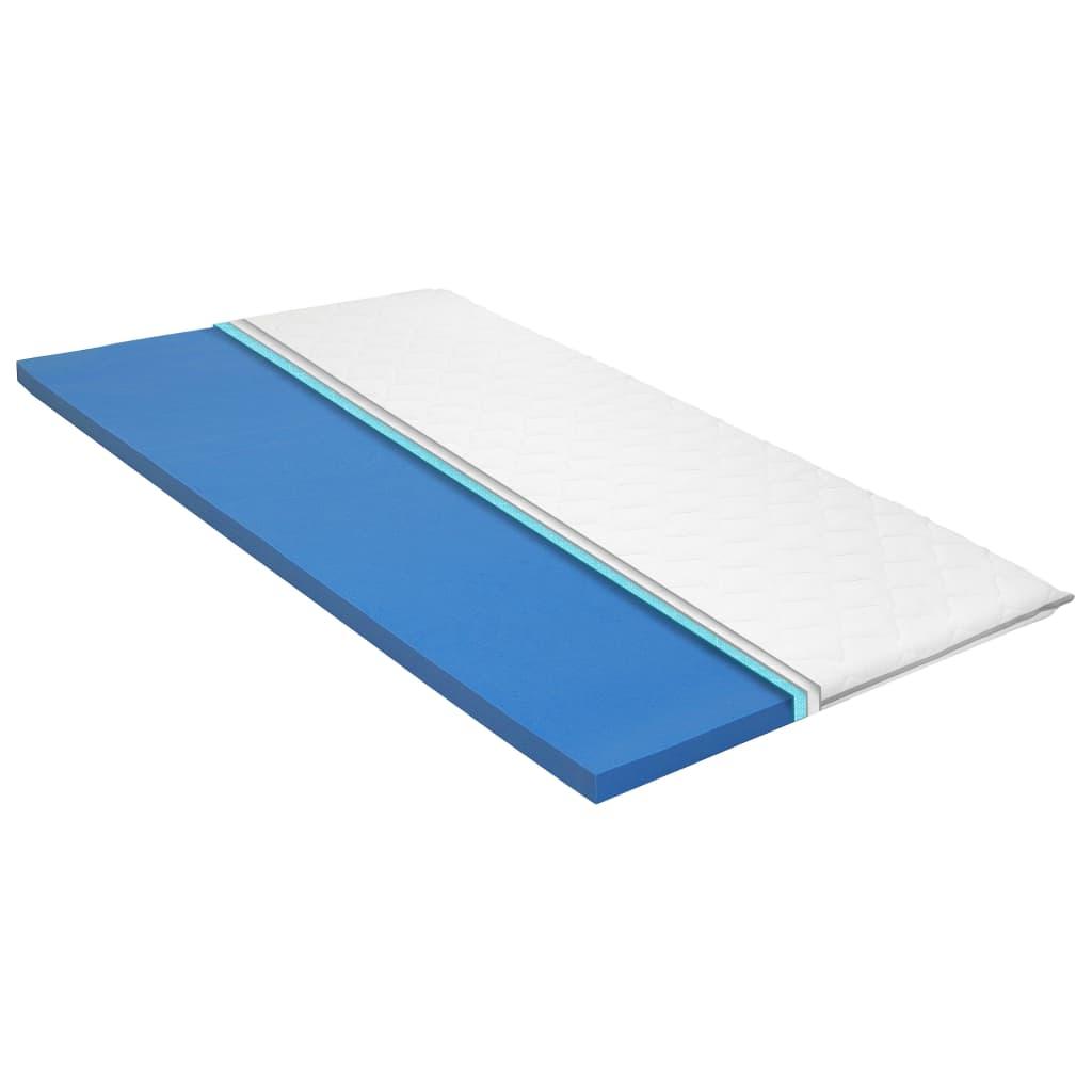vidaXL Topper de saltea, 90 x 200 cm, spumă cu memorie Visco, 6 cm poza vidaxl.ro