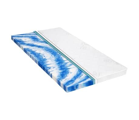 vidaXL Sur-matelas 90 x 200 cm Mousse de gel 7 cm