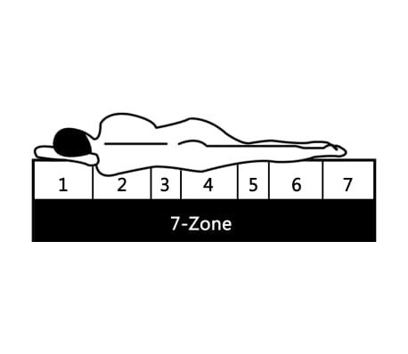 vidaXL Čiužinys, 90x200cm, 7 zonų, spyruoklės, 20cm, H2[9/10]