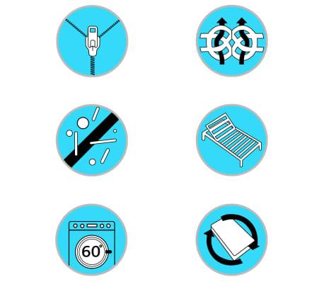 vidaXL Čiužinys, 90x200cm, 7 zonų, spyruoklės, 20cm, H2[10/10]