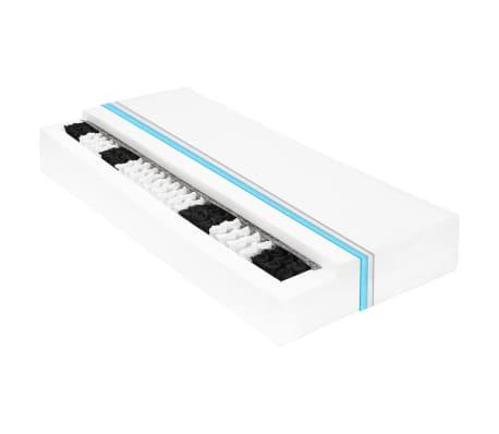 vidaXL Vzmetnica 120x200 cm 7-conska žepne vzmeti 20 cm H3