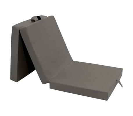 vidaXL 3-teilige Klappmatratze 190×70×9 cm Grau[1/6]