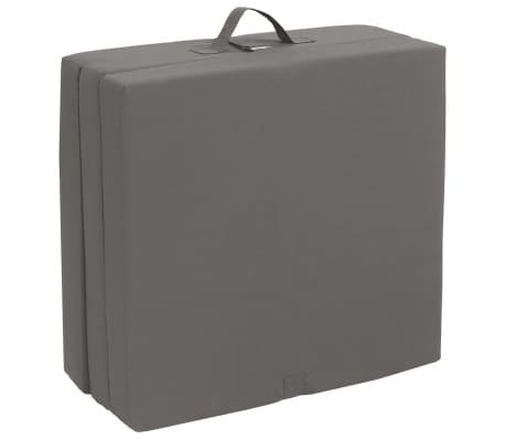 vidaXL 3-teilige Klappmatratze 190×70×9 cm Grau[4/6]