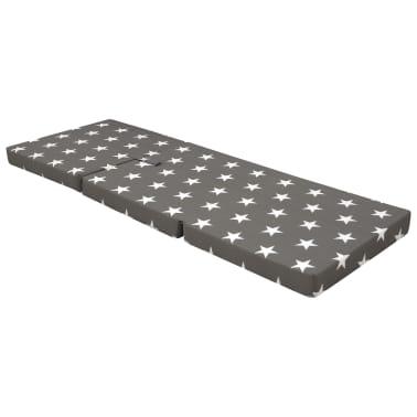 vidaXL Matelas en mousse pliable en 3 sections 190 x 70 x 9 cm Gris[2/6]