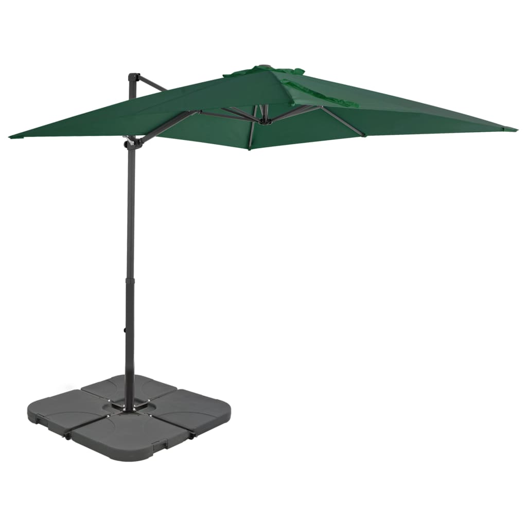 b06edf6115e29 vidaXL Outdoor Umbrella with Portable Base Green. This advert is located in  and around Uk. Display the previous image. Display the next image