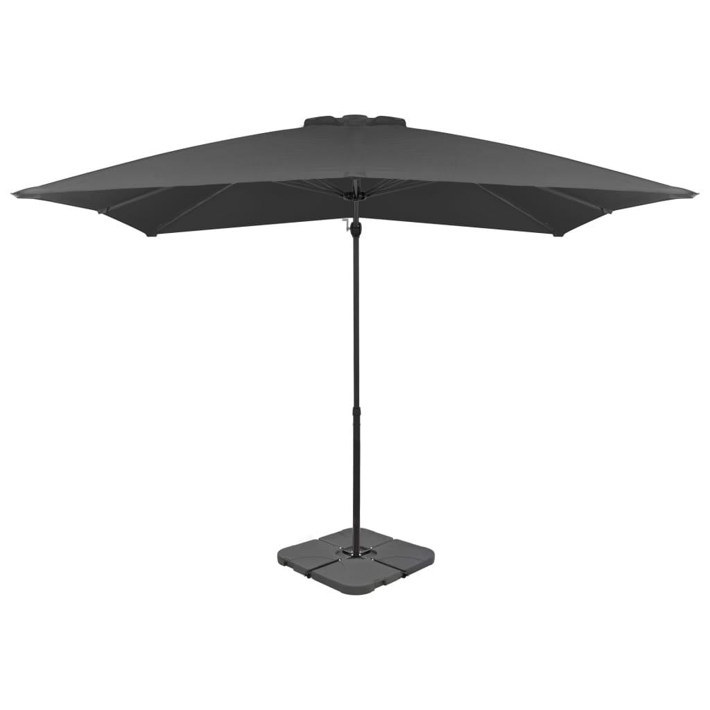 vidaXL Umbrelă de exterior cu bază portabilă, antracit vidaxl.ro