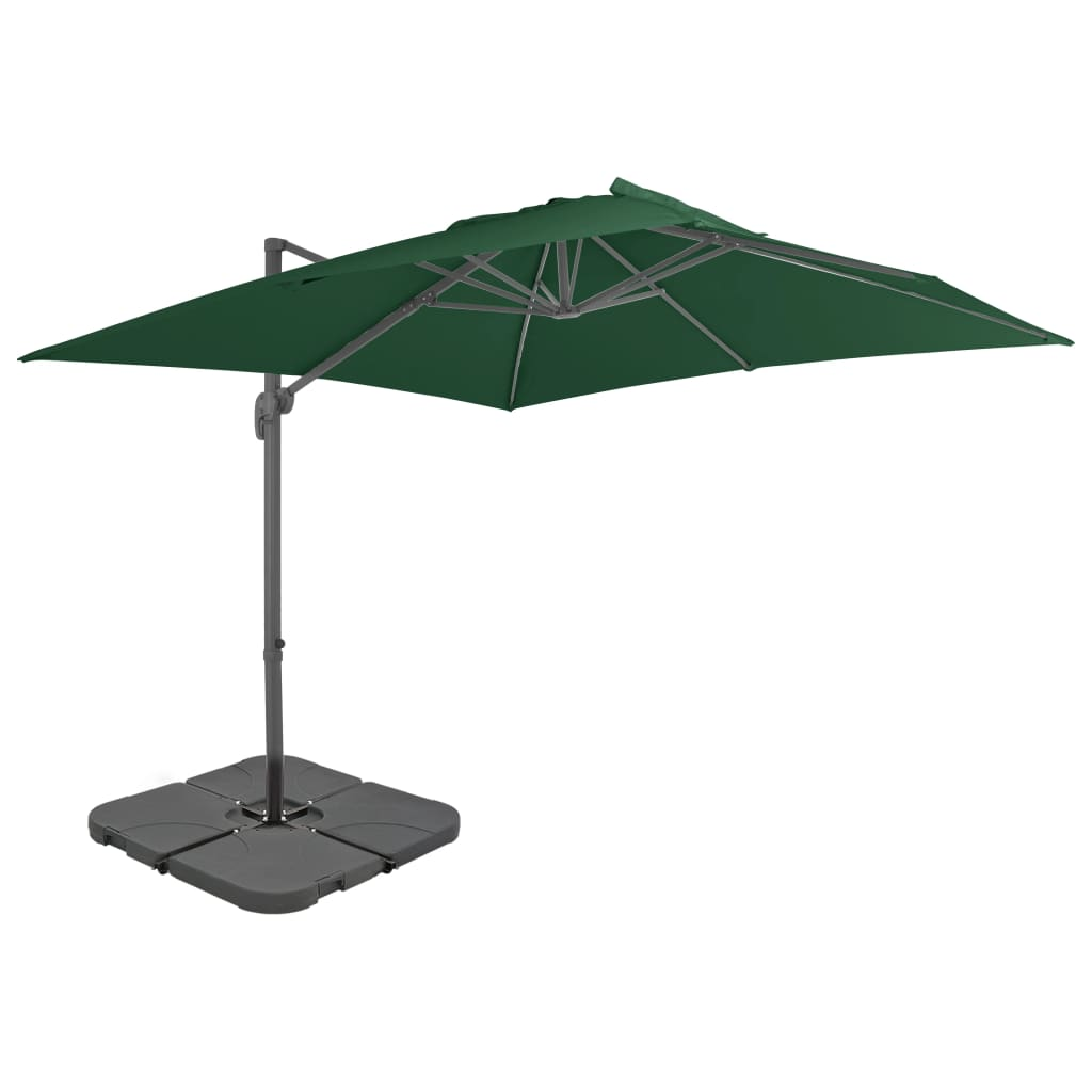 vidaXL Umbrelă de exterior cu bază portabilă, verde poza 2021 vidaXL