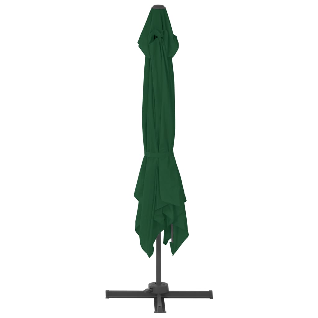 vidaXL Parasol met draagbare voet groen