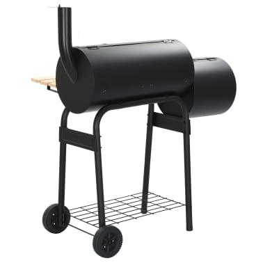 vidaXL Classic Charcoal BBQ Offset Smoker[4/8]
