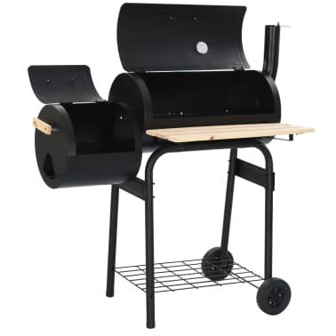 vidaXL Classic Charcoal BBQ Offset Smoker[5/8]