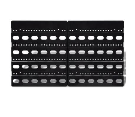 vidaXL Contenitore Plastica per Garage da Parete Set 30 pz Blu e Rosso[2/6]