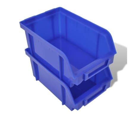 vidaXL Contenitore Plastica per Garage da Parete Set 30 pz Blu e Rosso[4/6]