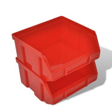 vidaXL Contenitore Plastica per Garage da Parete Set 30 pz Blu e Rosso[5/6]