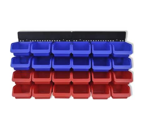 Werkstattboxen für die Wand Blau und Rot (2 Aufbewahrungseinheiten)[2/5]